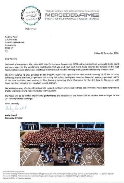 Mercedes AMG letter