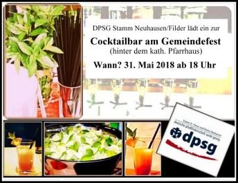 cocktailbar einladung 2018