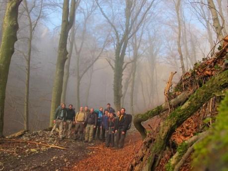 Gruppenfoto im Nebel, Tag 2