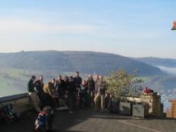 Gruppenfoto auf der Burg Hornberg