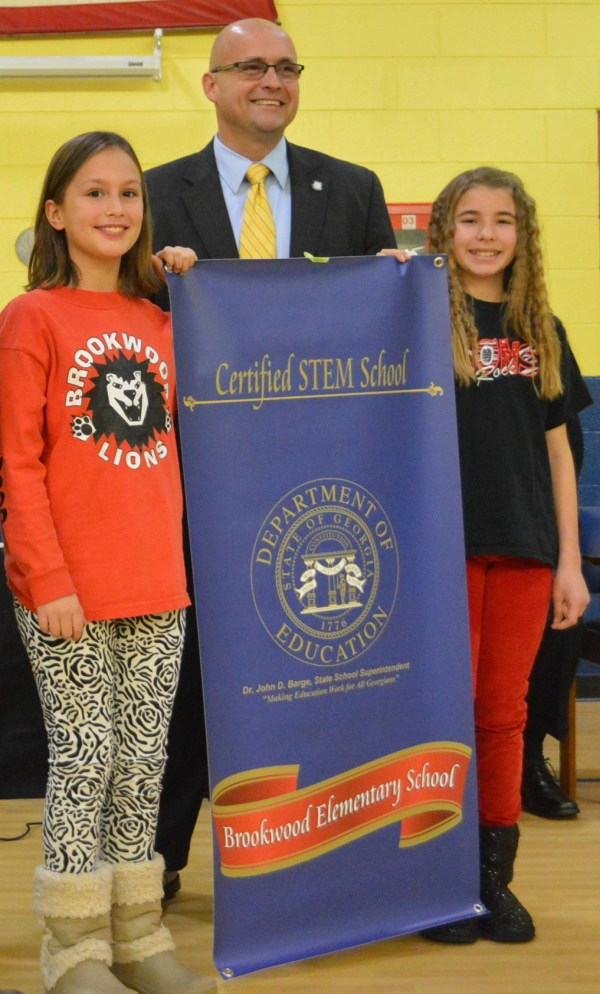 State Superintendent John Barge Presents Certified Stem