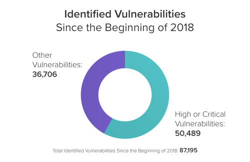 Identified Vulnerabilities Since the Beginning of 2018