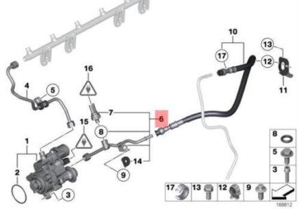 Sensor de combustible de alta presión bmw OEM (motores n54