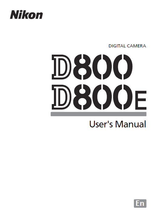 Nikon D800 User's Manual is Available