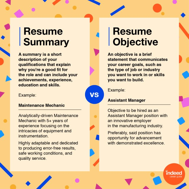 Resume Objectives: 23+ Examples and Tips  Indeed.com