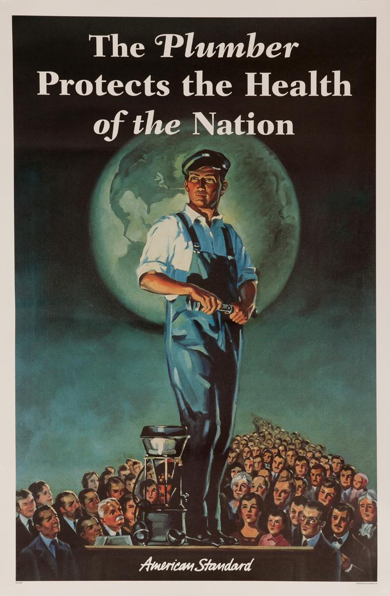 american standard plumbing poster