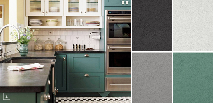 Image Result For Kitchen Color Schemes Painted Cabinets