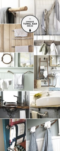 Unique Ideas for Bathroom Towel Bars and Racks | Home Tree ...
