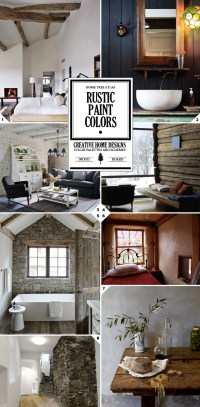 Rustic Paint Colors and Textured Wall Designs - interior ...