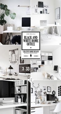 The 3 Steps to Creating a Black and White Home Office ...