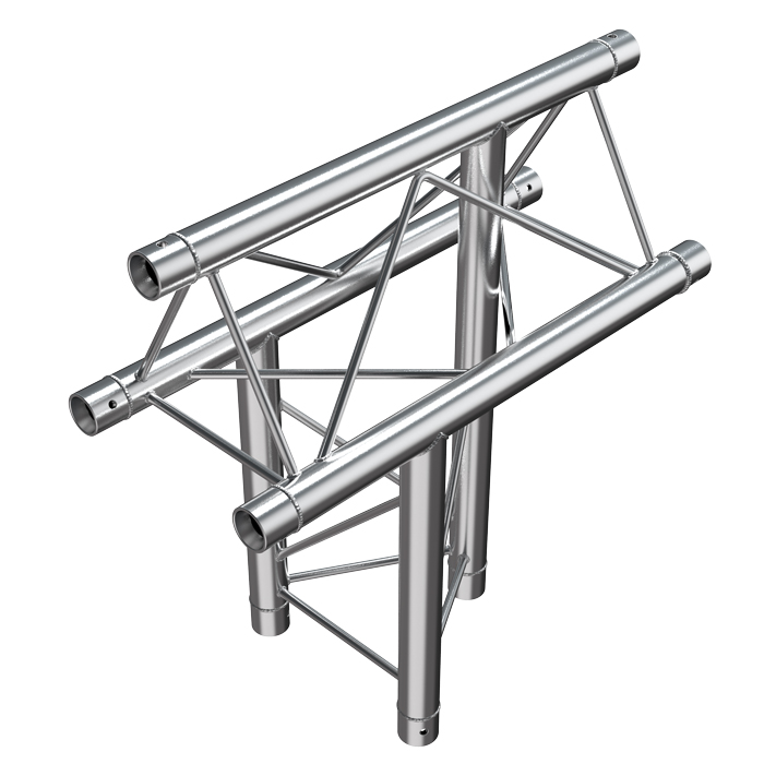 F23 Tri Truss 3 Way Vertical T-Junction (Apex Up) with