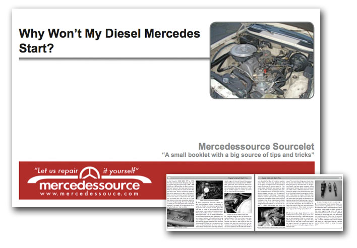 Why Won't My Diesel Mercedes Start? By Kent Bergsma