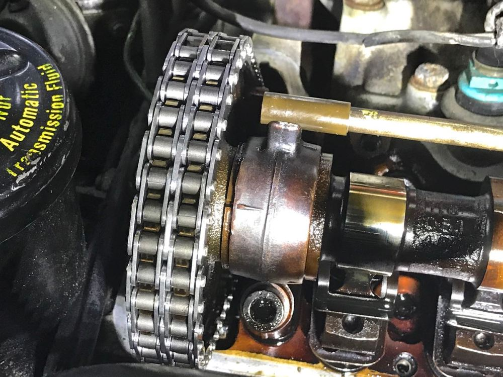 medium resolution of i installed a new timing chain and it jumped some sprocket teeth