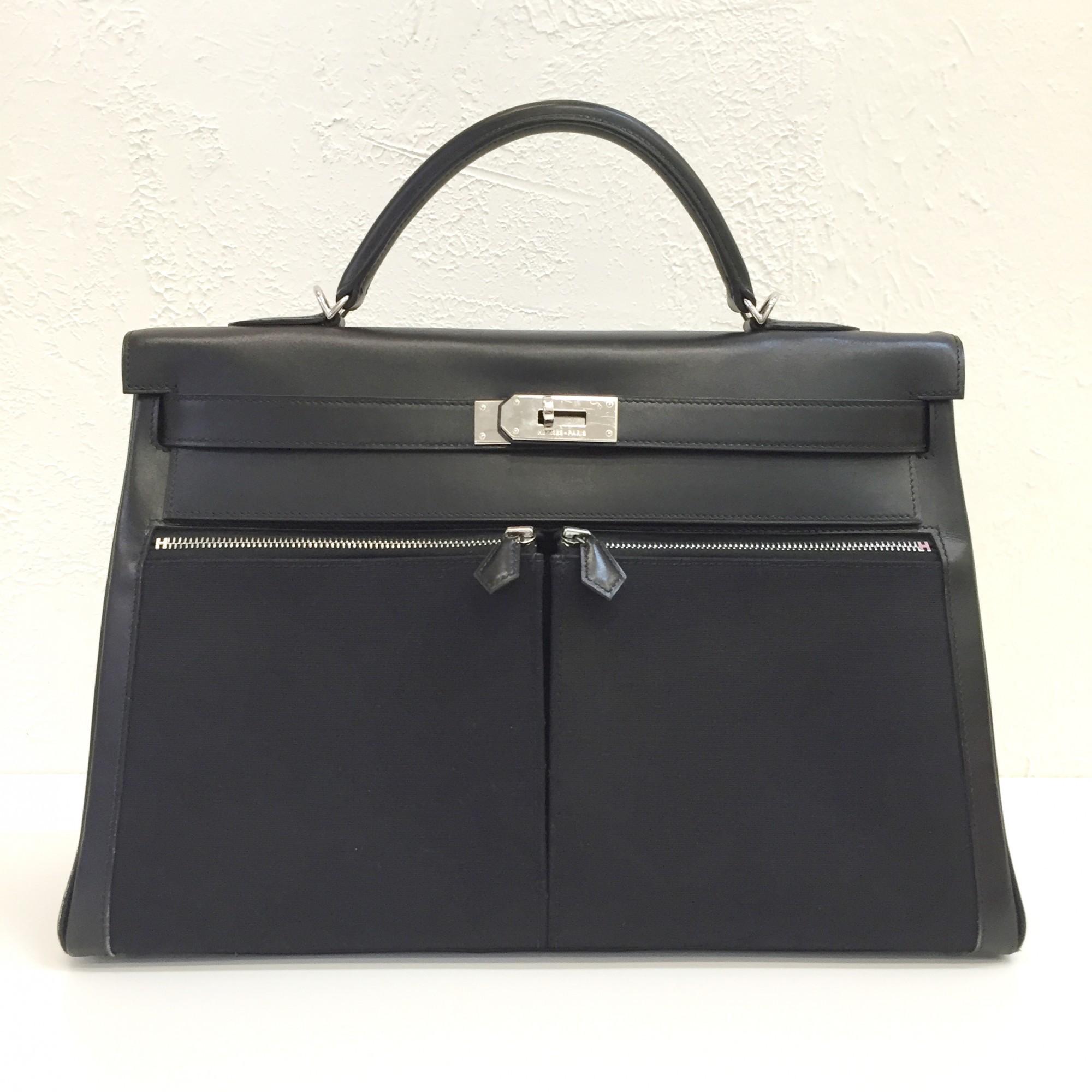 Buy Black Hermes Handbag At Lxr Amp Co