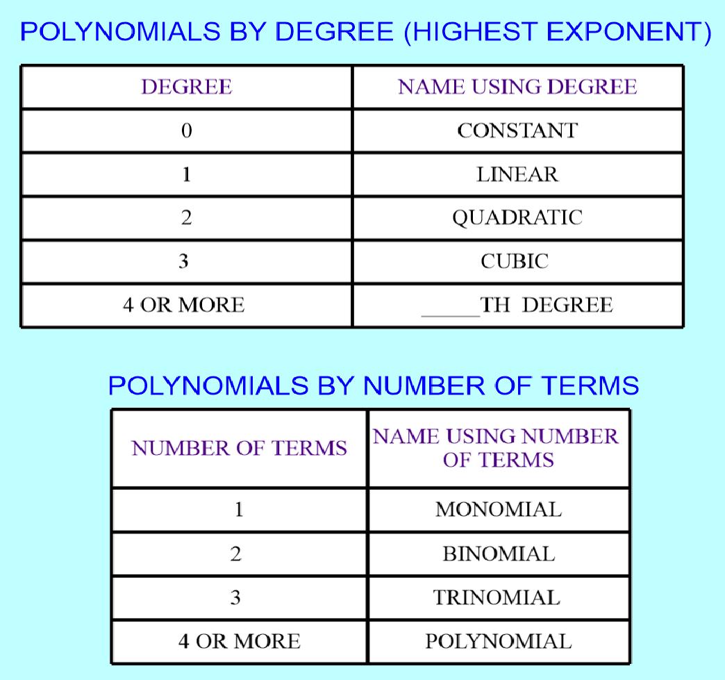 Standard Form Degree Amp Vocabulary