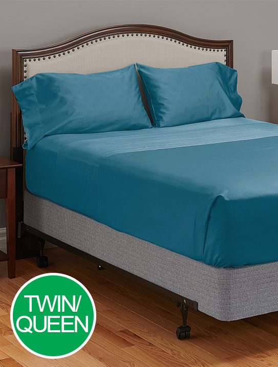 twin queen my pillow c giza dream lake blue bed sheets