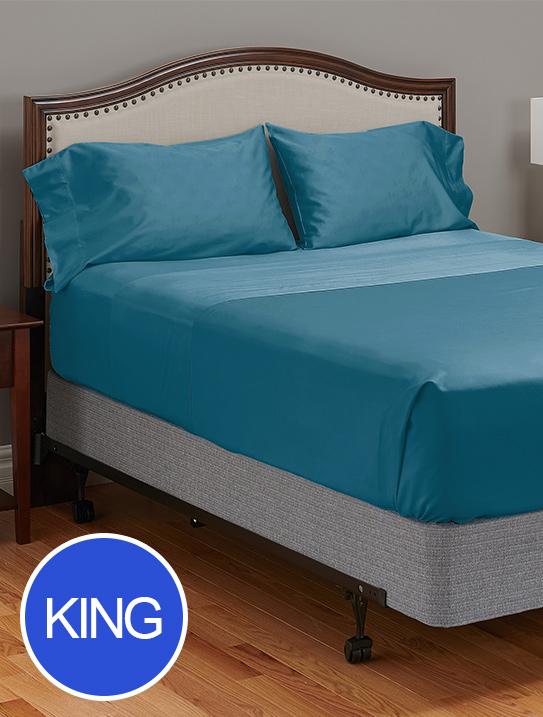 king my pillow c giza dream lake blue bed sheets