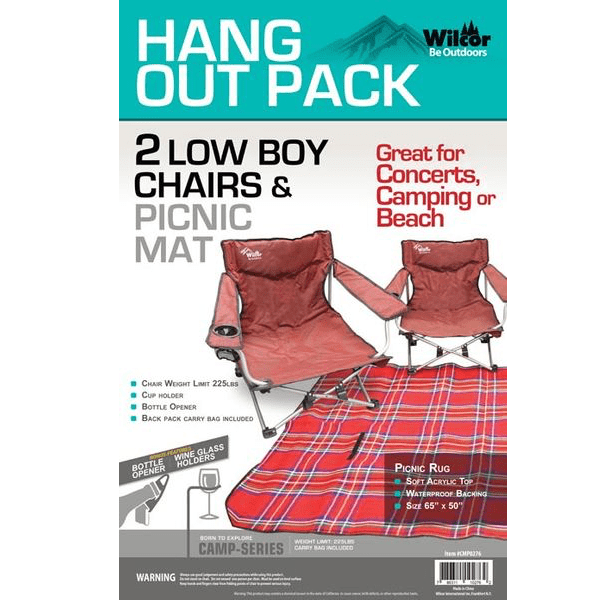 low back chairs for concerts rent kids wilcor 2 boy chair picnic set ptl shopping network