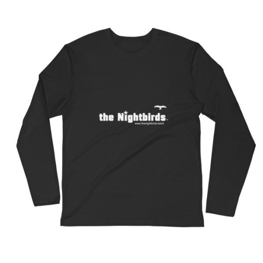 Men's Long Sleeve Fitted Crew - Featuring THE NIGHTBIRDS logo