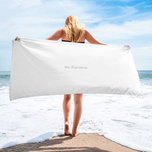 The Nightbirds Beach Towel with band logo  00046
