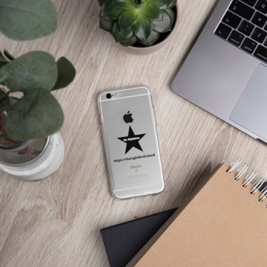 The Nightbirds iPhone Case with Logo & Black Star