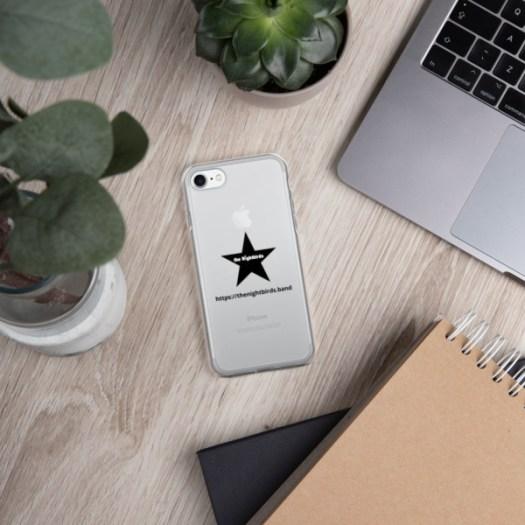 The Nightbirds iPhone Case with Logo & Black Star