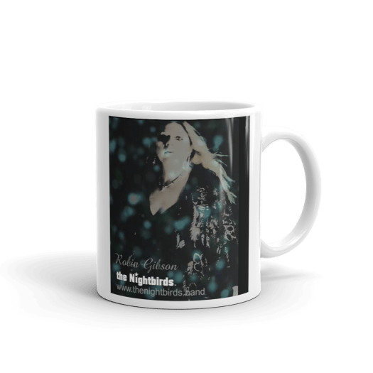 Feels So Right White Ceramic Mug the Nightbirds Featuring Robin Gibson 00017