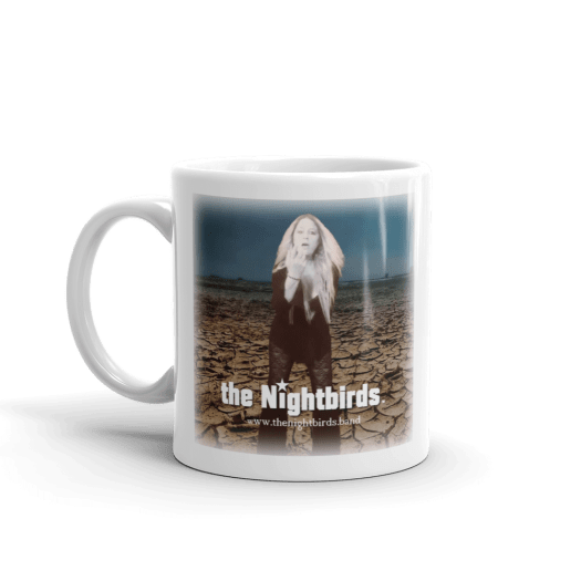 Coals of Fire White Ceramic Mug with the Nightbirds Logo Featuring Robin Gibson 00006