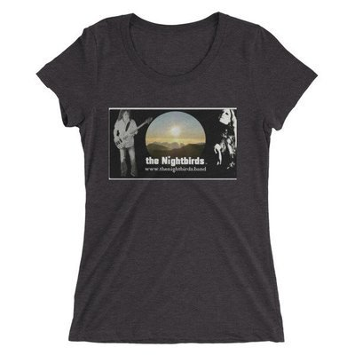 the Nightbirds PIECES Cover Art Themed Ladies' short sleeve t-shirt