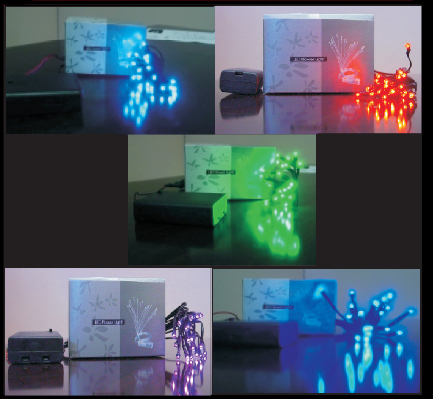 LED Flower Light - B/W/O/P/G LED-FL-20L