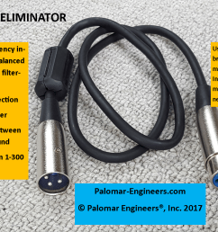 audio rfi eliminator for xlr cables triple in line filtering male female extension [ 1485 x 836 Pixel ]