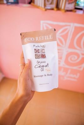 Papaya and Mango- Eco Refill Pouch 300ml Organic Coconut Oil