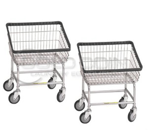 R&B Wire Front Load Laundry Carts (Qty: 2) Model 100T