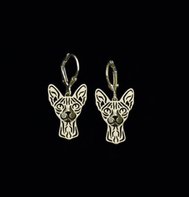 Rex or Sphinx drop earrings