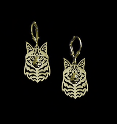 Maine Coon drop earrings