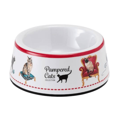 Pampered Cats Cat Bowl by Ashdene