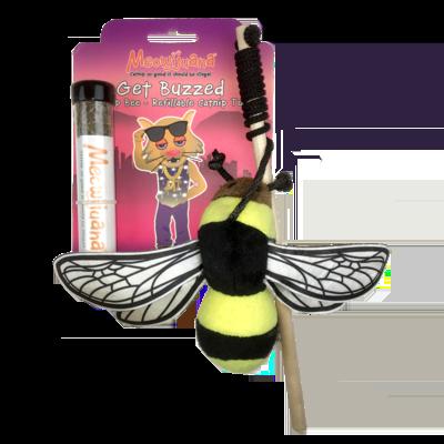 Meowijuana Get Buzzed Bee Cat Toy