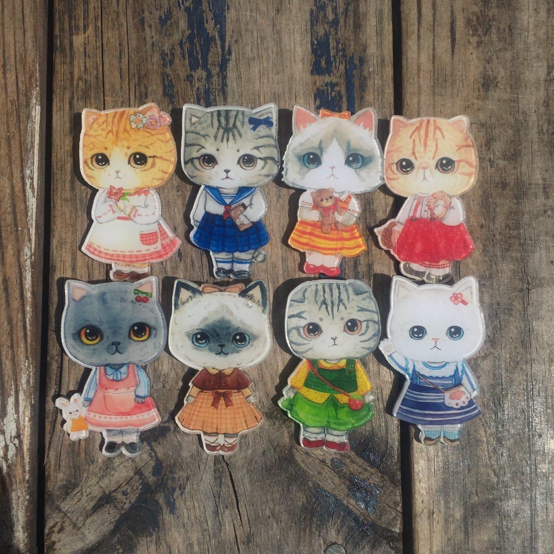 Cute Kitty Acrylic Badges
