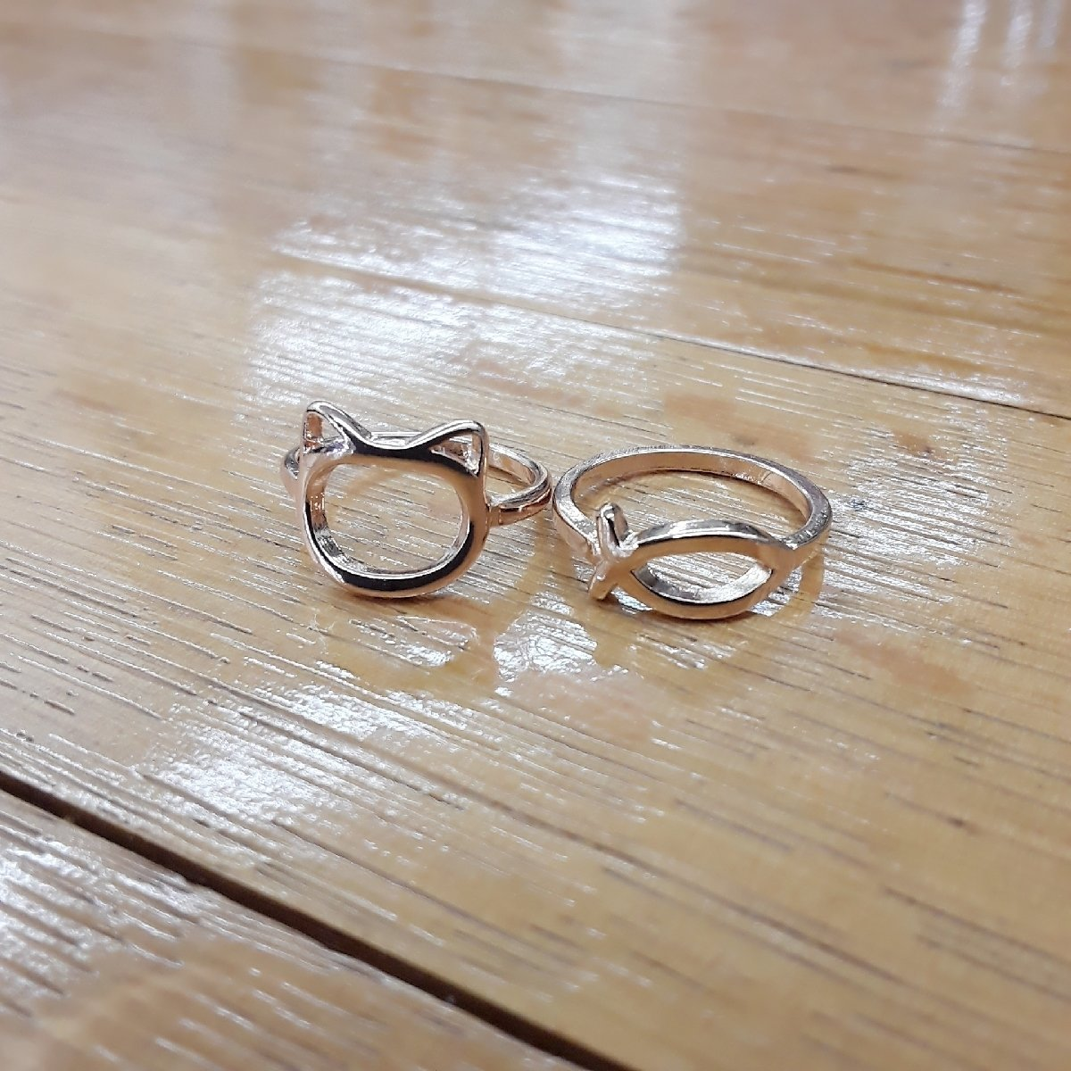 Cat & Fish Rings (set)
