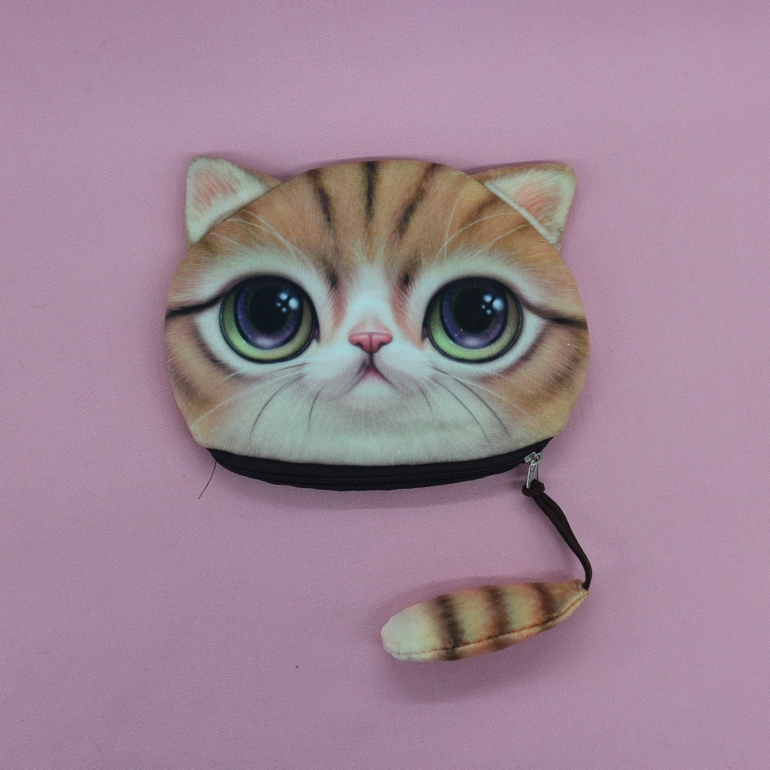 Ginger Cat Coin Purse with Tail
