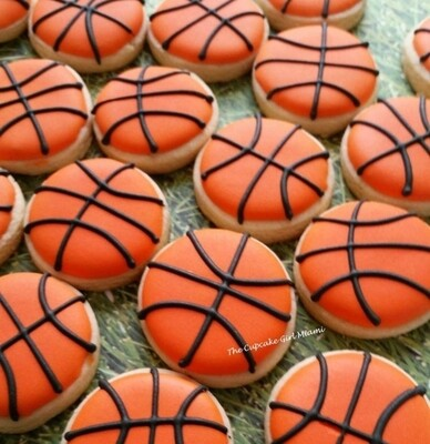 Mini Basketball  Sugar Cookies