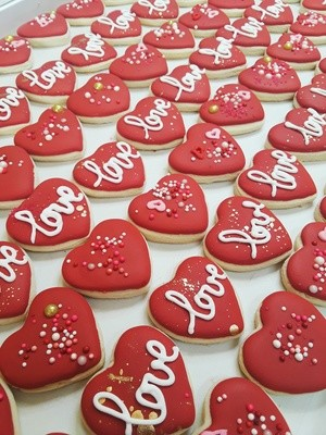 Valentine's Day Love Cookie Pack 5 Pack