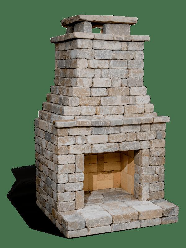 Fremont Fireplace Kit Bethany Ledge Blend