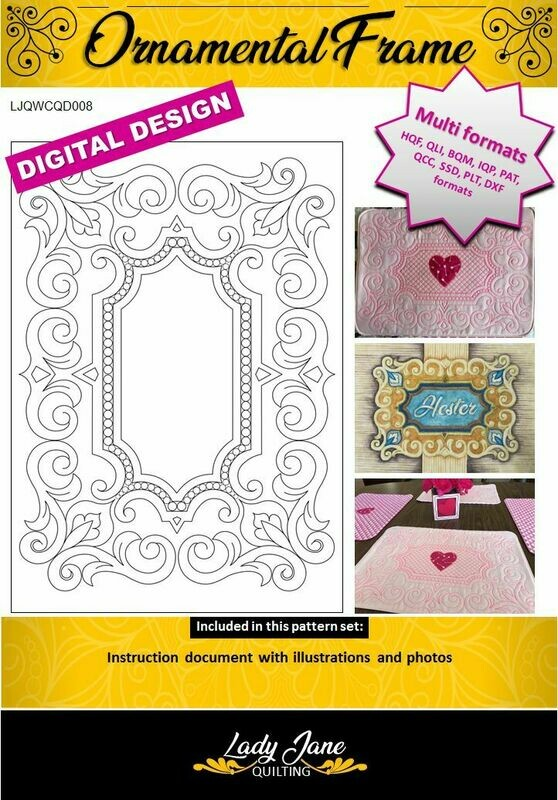ORNAMENTAL FRAME - Wholecloth Design for Computer Quilting