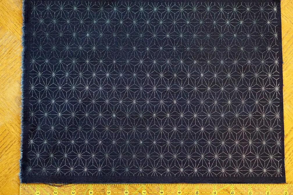 Fabric for Sashiko practice - Asanoha Pattern