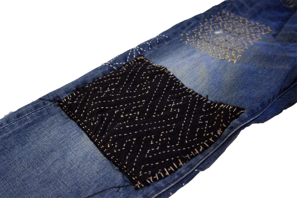 Customized (Sashiko) Mending on your Favorite Denim