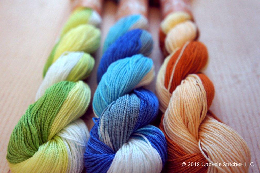 Unique Variegated Sashiko Thread | 145 meter big skein UVC_Thread_MI_