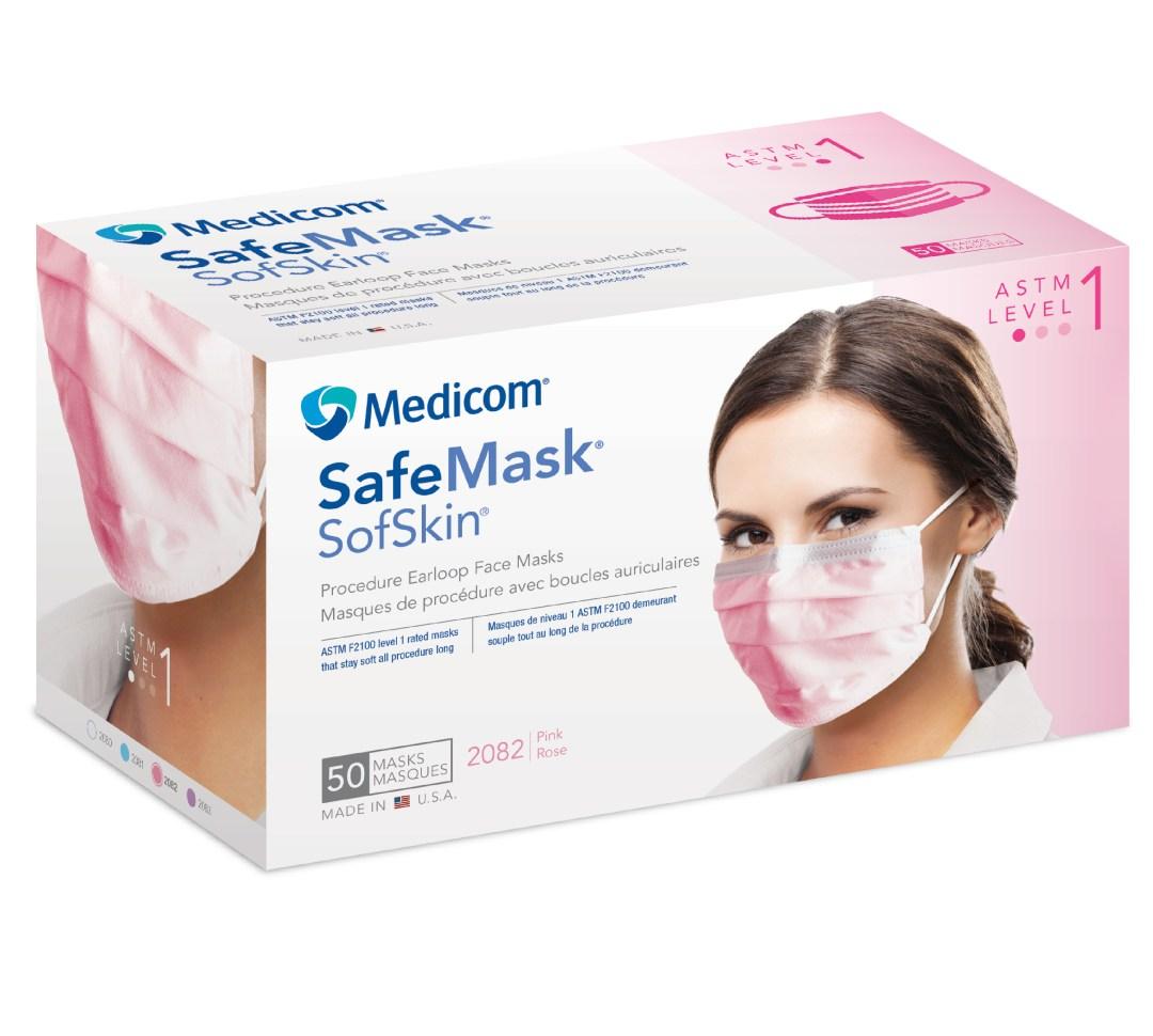 Pink Medical Face Masks MBCPDMM2