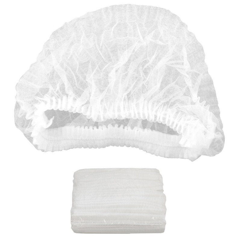 White Disposable Hairnets MBCHN0001