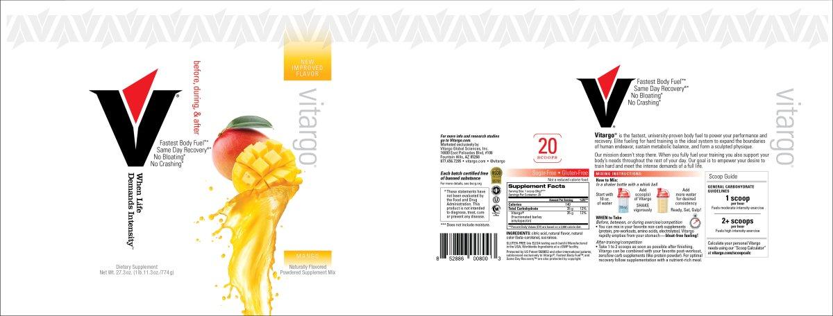 Mango 20 Scoops Label